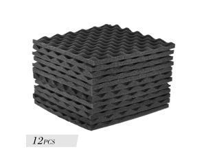 EC2WORLD 12PCS  Studio Acoustic Foams Panels Sound Insulation Foam 12''X12'' Grey
