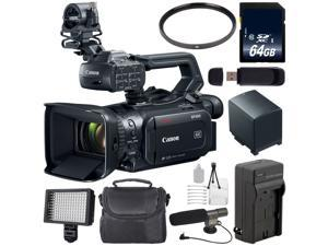 Canon XF400 Camcorder 2213C002 + 64GB SDXC Class 10 Memory Card + SD Card USB Reader + BP-820 Replacement Lithium Ion Battery + External Rapid Charger + 58mm UV Filter + Condenser Mic Bundle