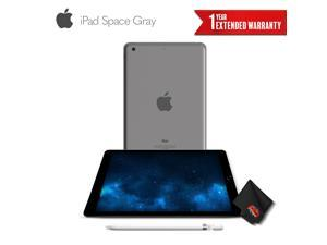 Apple 9.7 Inch iPad 128GB (Wi-Fi Only)(Early 2018) Space Gray + Apple Pencil for iPad Pro