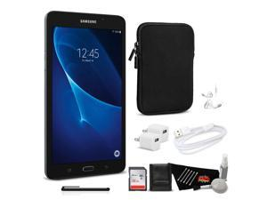 Samsung Tab A 8GB 7 Inch Tablet Wi-Fi Only (Black, SM-T280NZKAXAR) Bundle with 32GB Memory Card