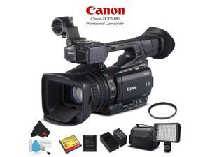 Canon XF200 HD Professional Camcorder (9593B002) With 32GB Memory Card, UV Filter, LED Light, Case - Starter Bundle