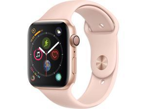 Apple Watch Series 4 (GPS Only, 44mm, Gold Aluminum, Pink Sand Sport Band)