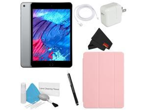 Apple 128GB iPad mini 4 (Wi-Fi Only, Space Gray) w/ Pink Smart Cover Bundle