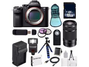 Sony Alpha a7S II a7S Mark II a7SII ILCE7SM2/B Mirrorless Digital Camera (International Model ) + Sony E 55-210mm f/4.5-6.3 OSS E-Mount Lens (Black) + 49mm Filter Kit 6AVE Bundle 106