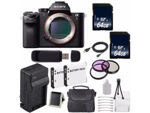 Sony Alpha a7S II a7S Mark II a7SII ILCE7SM2/B Mirrorless Digital Camera (International Model ) + 62mm Filter Kit 6AVE Bundle 4