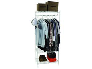 "Apollo Hardware 3-Shelf Wire Shelving Garment Rack 14""x24""x60"" (White)"