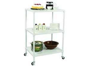 "Apollo Hardware 3-Tier Solid Shelving with Wheels 18""x24""x37"" (White)"