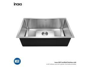 "Inoxs 30"" x 18"" x 10"" Undermount Single Bowl 16 Gauge Stainless Steel Kitchen Sink/I-US3018"
