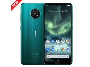 "Nokia 7.2 TA-1196 128GB Dual SIM GSM Factory Unlocked Android One 6.3"" IPS LCD Display 6GB RAM Triple Camera w/ Zeiss Optics  Smartphone - Cyan Green - International Version"