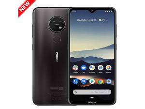 "Nokia 7.2 TA-1196 128GB Dual SIM GSM Factory Unlocked Android One 6.3"" IPS LCD Display 6GB RAM Triple Camera w/ Zeiss Optics  Smartphone - Charcoal  - International Version"