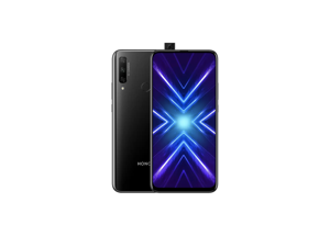 "Honor 9X 128GB STK-LX3 4G LTE Dual SIM 6.59"" LTPS IPS Display 6GB RAM 48 MP Triple Camera & 16 MP Pop-up Selfie Camera - HiSilicon Kirin 710F - Factory Unlocked Smartphone - Midnight Black"
