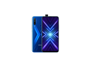 "Honor 9X 128GB STK-LX3 4G LTE Dual SIM 6.59"" LTPS IPS Display 6GB RAM 48 MP Triple Camera & 16 MP Pop-up Selfie Camera - HiSilicon Kirin 710F - Factory Unlocked Smartphone - Sapphire Blue"