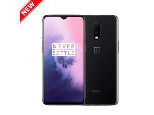 "OnePlus 7 256GB Dual SIM GM1900 GSM Factory Unlocked 4G LTE 6.41"" Optic AMOLED Display 8GB RAM Dual 48MP+5MP Camera Smartphone - Mirror Gray - International Version"
