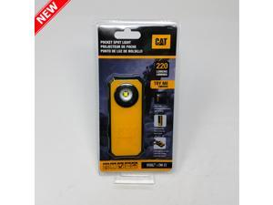 CAT 220 Lumens CAT5120 LED Rugged Pocket Spot Light 3AAA Battery Operator - Black / Yellow