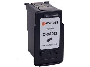 Novajet Ink Cartridge Replacement For Canon PG 240XL Single BlackWith Level Indicator