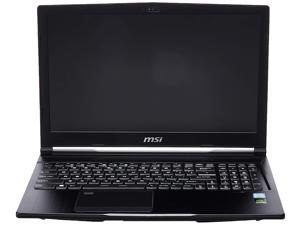 "MSI WE63 8SI 239 15.6"" Mobile Workstation Laptop 94% NTSC Display Quadro P1000 4G i7-8750H 16GB 256GB SSD Aluminum Black"