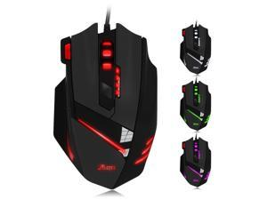 PC USB Gaming mice ZELOTES T60 7200 DPI Wired Computer Mice 7 Buttons Multi-Modes LED Lights Gaming Mouse for PC Mac