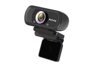Anivia 1080p HD Webcam W5, USB Desktop Laptop Camera, Mini Plug and Play Video Calling Computer Camera, Built-in Mic, Flexible Rotatable Clip