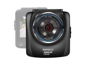SANSCO 2K 1296P 2304x1296 Car Dash Cam, 2.4-Inch Screen, In-Car Dashboard Camcorder with G-Sensor and Emergency Recording