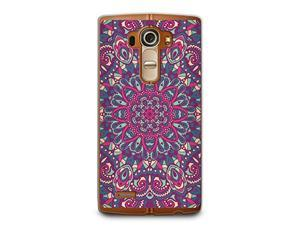Hard Plastic Case for LG G4, CasesByLorraine Purple Mandala Floral Pattern PC Case Plastic Cover