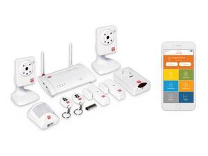 Home8 Oplink Video-Verified TripleShield Alarm System - Wireless Home Security with Two (2) IP-Cameras, Alarm Sensors, Indoor Siren, and Free Basic Service