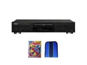 Teac CD Player w/ USB Port (Black) - Essentials Bundle