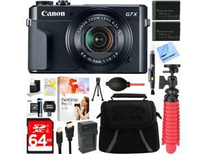 Canon PowerShot G7 X Mark II 20.1MP Digital Camera + Spare Battery & Accessory Bundle
