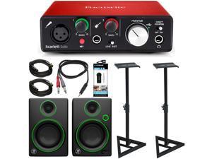 Focusrite Scarlett Solo USB Audio Interface (2nd Gen) w/ Pro Tools + CR3 Speakers + More