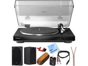 """Pioneer Audiophile Stereo Turntable + Pioneer 4"""" Bookshelf Speakers Bundle"""