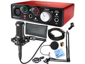 Focusrite Scarlett Solo USB Audio Interface 2nd Gen & Audio-Technica AT2035 Microphone Kit