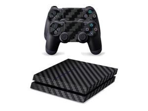 Classical Black Carbon Fiber Decal Skin For PS4 Console Cover For Playstation ...