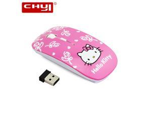 336d42dce Wireless Mouse Ultra Thin Pink Hello Kitty Computer Mouse 1600DPI Switch Optical  Gaming Mause Mice For