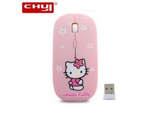 b4bee722a Wireless Mouse Super Thin Hello Kitty 2.4Ghz USB Optical Mause Mice for  Computer ...