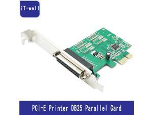 PCI-E Parallel  card  Printer DB25 Parallel Port LPT to PCI-E PCI Express Card Adapter Converter
