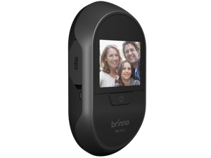 Brinno SHC500 12mm Digital Front Door Peephole Security Camera - Easy to Install - Theft Proof - Superior Battery Life - No Motion Detection - No Smartphone Necessary, Black