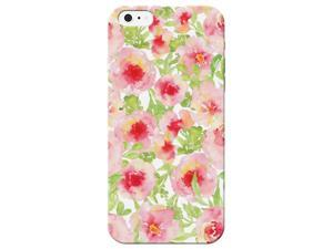 6fcd9e838d2 Transparent Edge Pink Flower Printed Lightweight Hard Plastic Phone Case  For iphone 7