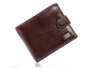 f1b0110ede00 Brown Coffee Soft Real Genuine Cowhide Leather Bifold Wallet Men Wallets  Coin Purses Credit Cards Holder