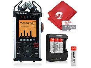 Tascam DR-44WL Portable Handheld Recorder and Basic Accessory Bundle