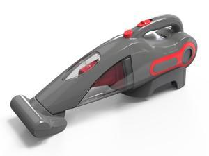 Dibea BX350 14.8V Lithium Ion Cordless Bagless Hand and Car Vacuum Cleaner - Red/Gray