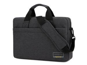 BRINCH 14.6 Inch Stylish Lightweight Business Laptop Shoulder Messenger Bag Briefcase Sleeve Case for 14 - 14.6 Inches Laptop / Notebook / MacBook / Ultrabook / Chromebook Computers,Black