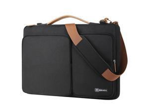 BRINCH 13.3 Inch Laptop Bag w/ Luggage Strap,Mens / Womens Water Resistant Shoulder Messenger Bag 360° Protective Laptop Sleeve Case Purse for 13- 13.3 Inch Laptop MacBook Chromebook Computers, Black