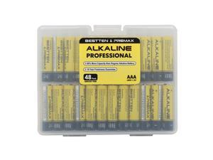 Bestten Alkaline Batteries, AAA 48 Pack Professional Batteries, 60% More Capacity, 10 Year Freshness Guarantee