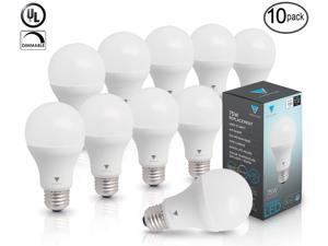 Triangle Bulbs T99019-10 LED Dimmable, 1055 Lumens Daylight (5000K) 12 Watt A19 LED Bulb, 75 Watt Replacement Bulbs (10 Pack)