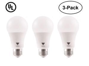 TriGlow (3-Pack) 15 Watt (100W Equivalent) A19  LED Bulbs, 3000K (Soft White Color), 1500 Lumens and E26 Base, UL Listed, Pack of 3 Bulbs