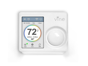 Vine Smart WiFi Thermostat with 7-Day Programming, Touchscreen and Nightlight (TJ-610) - Ivory, 3rd Gen