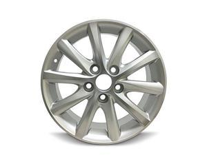 New 16X6.5 Toyota Camry (10-11) 5 Lug 10 Spoke Silver Alloy Rim Full Size Replacement Alloy Wheel
