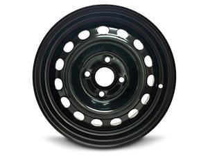 New 14x5.5 Hyundai Accent (12-16) 4 Lug Black Steel Rim Full Size Replacement Steel Wheel