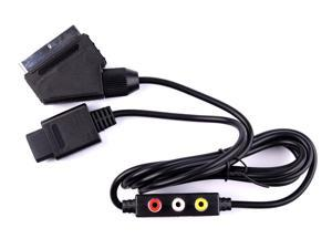 Hellfire Trading RGB AV HD TV SCART CABLE LEAD FOR NINTENDO GAMECUBE GC NGC WITH AV OUTPOUTS NEW
