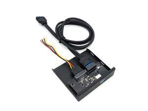 "Internal USB 3.1 Gen 1 Type C + USB 3.0 Port Hub Front Panel w/ 20 pin Extension Cable for Desktop PC Case 3.5"" Floppy Bay Mount"