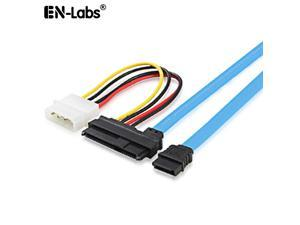 EnLabs SFF8484TOSATA 2.3ft SFF-8482 SAS to SATA Adapter Cable,SAS Hard Disk Connected to Motherboard SATA Port Adapter Cable w/ 7 inch Molex 4pin Power Cable